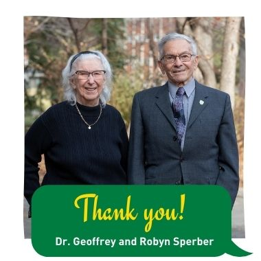 Thank You to Doctor Geoffrey and Robyn Sperber