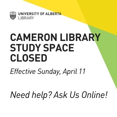 cameron library closed effective April 11